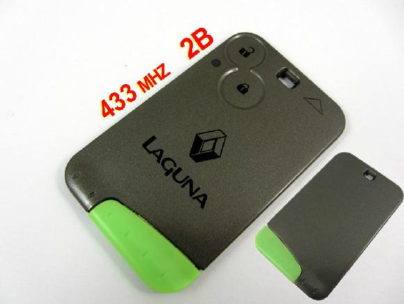 Здесь можно купить  2 Button High Quality Remote Key Renault Laguna Smart Card with Insert Small key blade 434Mhz  Автомобили и Мотоциклы