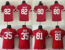 All stitched Youth San Francisco 49ers Kids children #35 Eric Reid #80 Jerry RICE #82 Torrey Smith 81 Anquan Boldin,camouflage(China (Mainland))