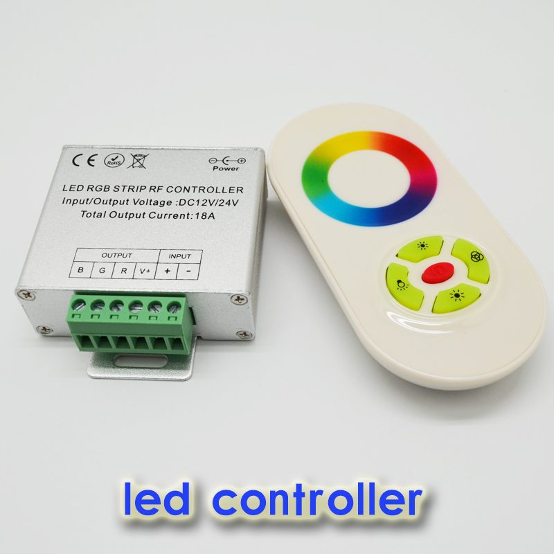 Magic Dream Color RGB LED Controller,DC12,24V 5 Keys Aluminum shell RF Touch RGB controller for led strips,wall lights(China (Mainland))