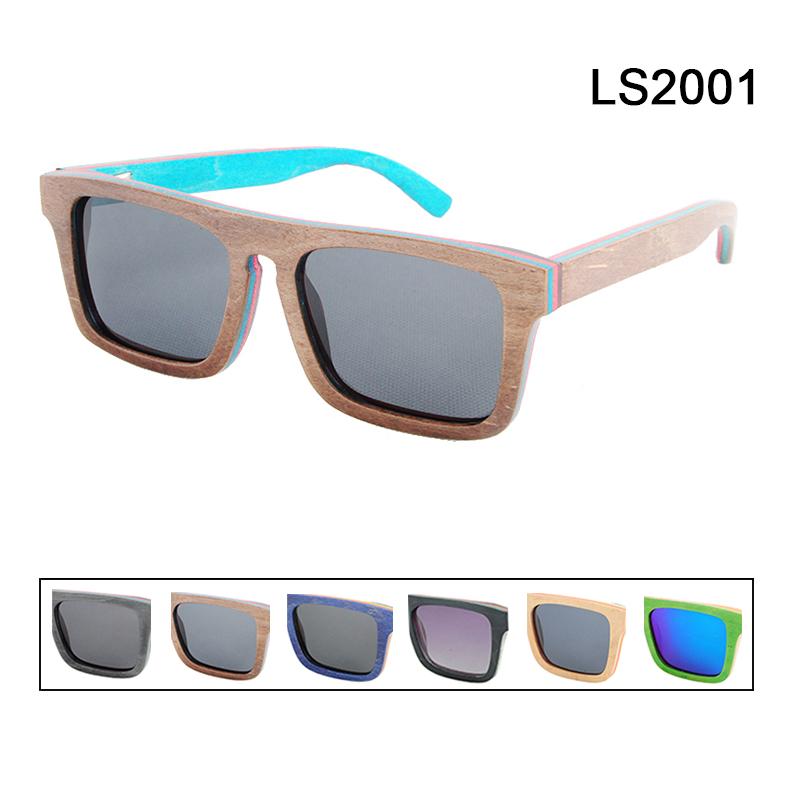 New 2016 Bamboo Sunglasses Men Wooden glasses Women Brand Designer Original Wood Sun Glasses Oculos de sol masculin LS2001(China (Mainland))