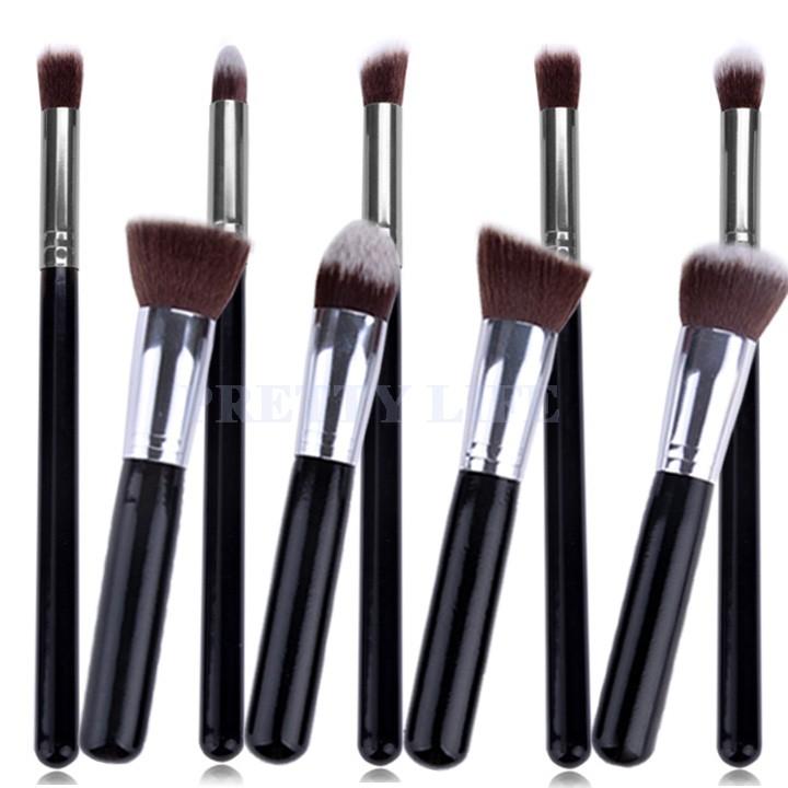 Best Quality 9pcs Makeup brushes Premium Synthetic Make up Brush Set Tools Kit Professional Cosmetics Silver Drop Shipping 36(China (Mainland))