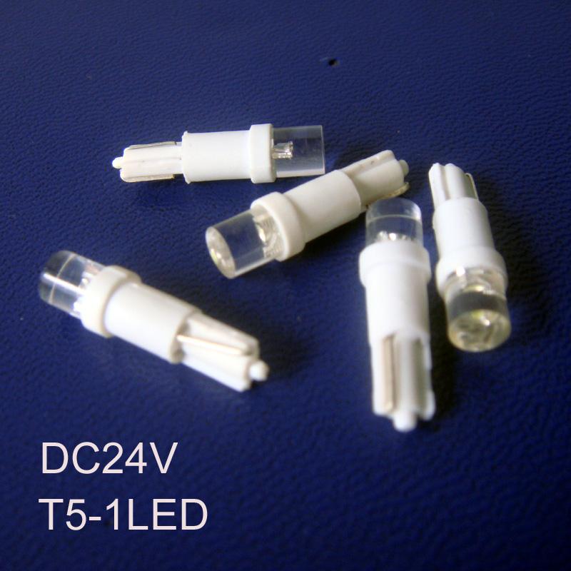 High quality T5 24V led warning light,auto T5 led instrument light,24V led T5 bulb W3W led signal lights free shipping 50pcs/lot(China (Mainland))