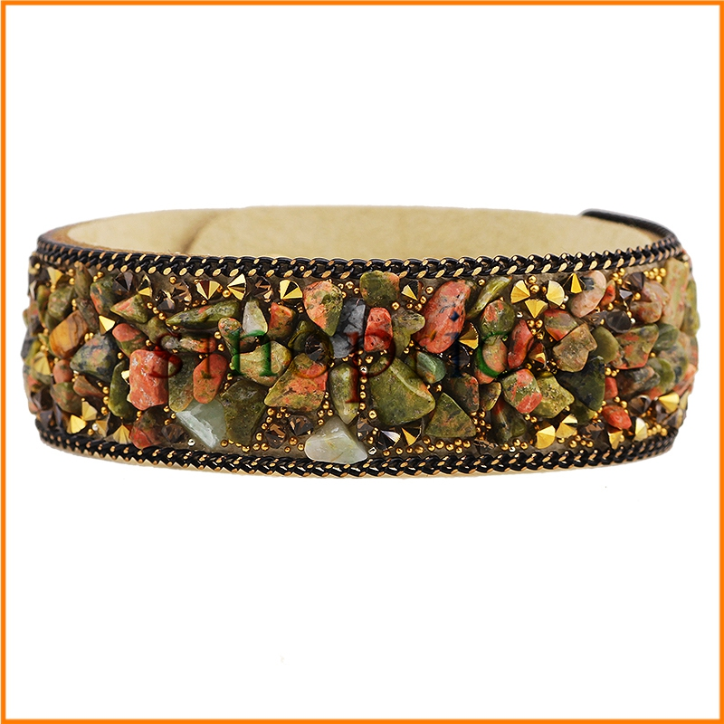 Fashion Women Wrap Bracelet PU Leather Bracelets With Crystals Stone Couple(China (Mainland))