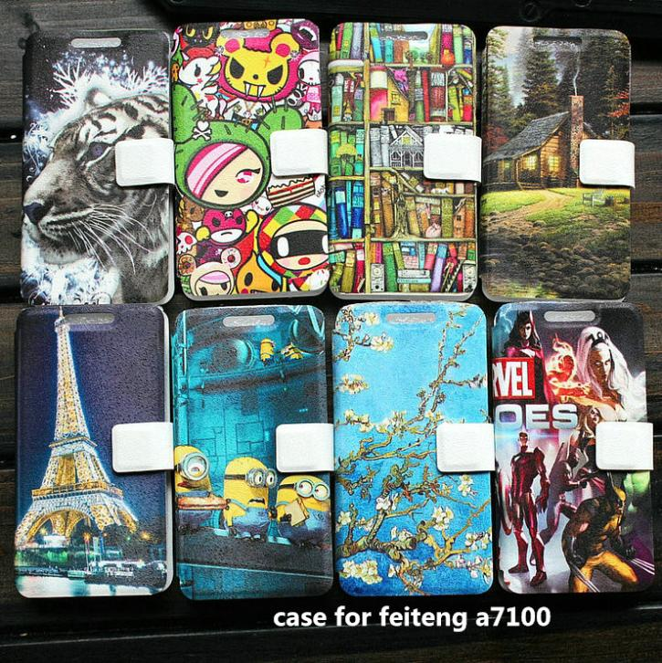 PU leather case for feiteng a7100 case cover(China (Mainland))