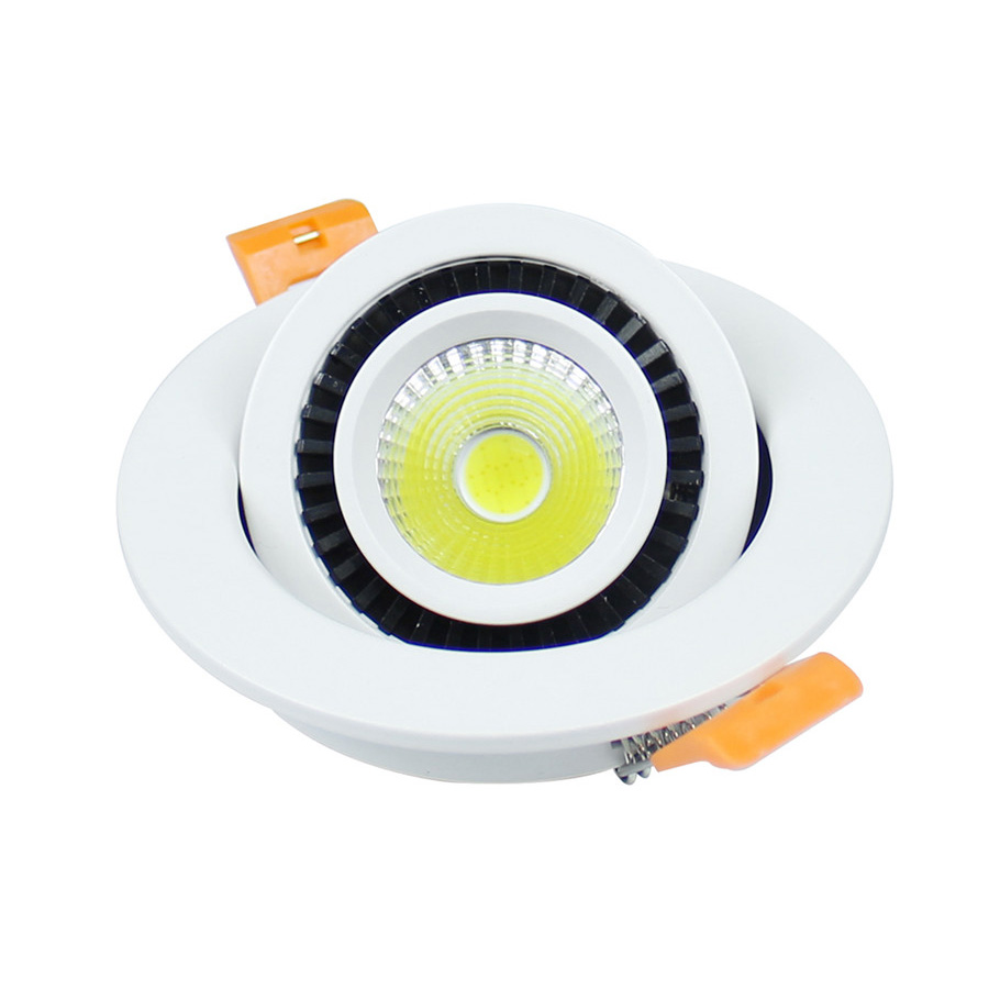10pcs/Lot 5W COB LED Downlight 360 Degree Rotation LED Ceiling Spot Lights With Led Driver Adjustable Recessed COB Downlights(China (Mainland))