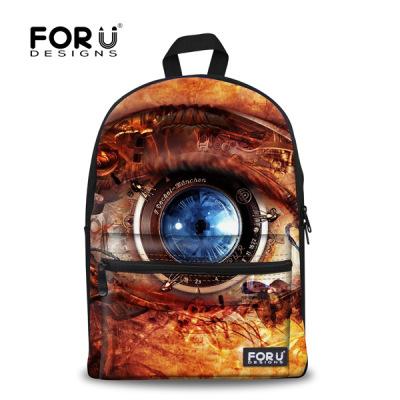 New Stylish 3D Soul Window Series School Bags For Girls Designer Teenage Floral Schoolbag Casual Children Bookbag Women Back bag(China (Mainland))