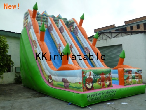 new inflatable slide, outdoor fun & sports, PVC inflatable bouncers, inflate jumping castle for kids(China (Mainland))
