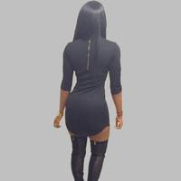여성 t 셔츠 드레스 2016 여름 스타일 블랙 화이트 bodycon 드레스 나이트 클럽 반 소매 tshirt 드레스 섹시 티 XD111