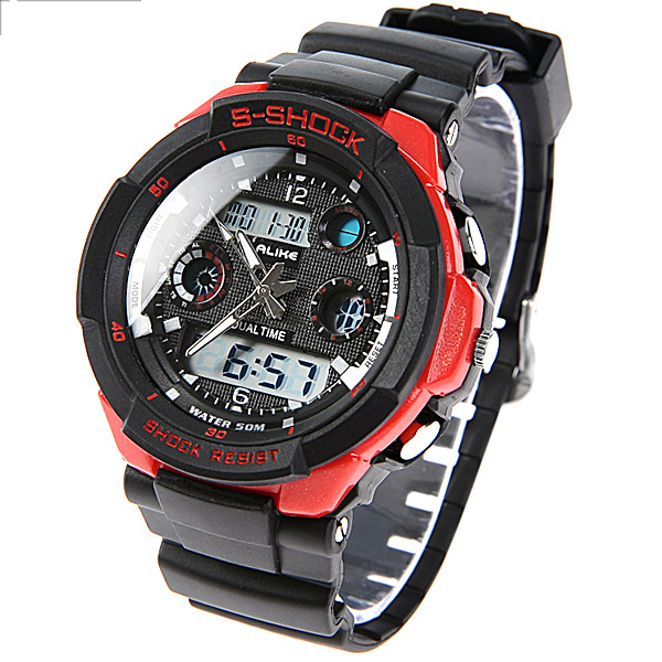 5ATM Waterproof Digital Watch