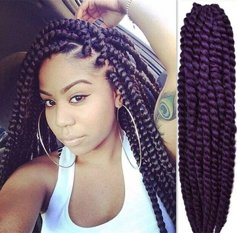 Crochet Box Braids Pre Braided Hair : hair 18havana mambo twist braid hair extension crochet braid hair ...