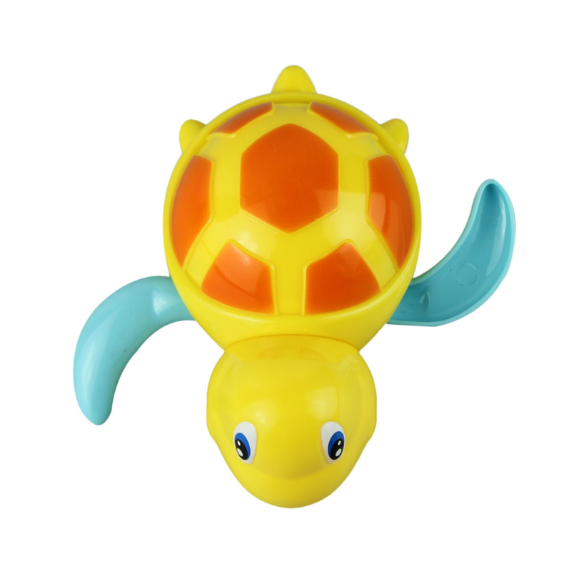 Essential Random Color New born babies swim turtle wound-up chain small animal Baby Children bath toy classic toys 623(China (Mainland))