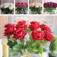Red Valentine's Mini Velvet Rose Spring Artificial Fake Flower Bouquet Room Wedding Hydrangea Decor(China (Mainland))