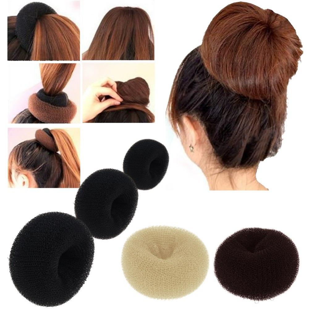 1PC Hair Styling Tools Sponge Women Girl Hair Bun Maker Ring Donut Shaper Styler 3 Sizes Accessories Elacstic Hair Bands(China (Mainland))