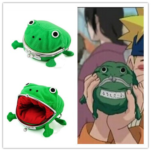 Naruto Frog Coin Purse Novetly Cute Girl Mini Bags 2015 New Animation Animal Wallet Women Cartoon Casual Naruto Frog Coin Purse(China (Mainland))