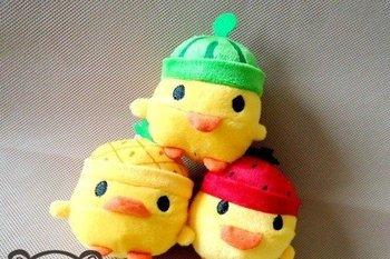 20PCS Kawaii Mix Plush Stuffed TOY , San-X  6M Fruit Yellow Chicken, Mobile Cell Phone Strap Pendant Charm Lanyard Chain BAG