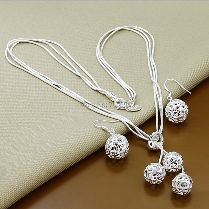 925 sterling silver necklace earrings set jewelry