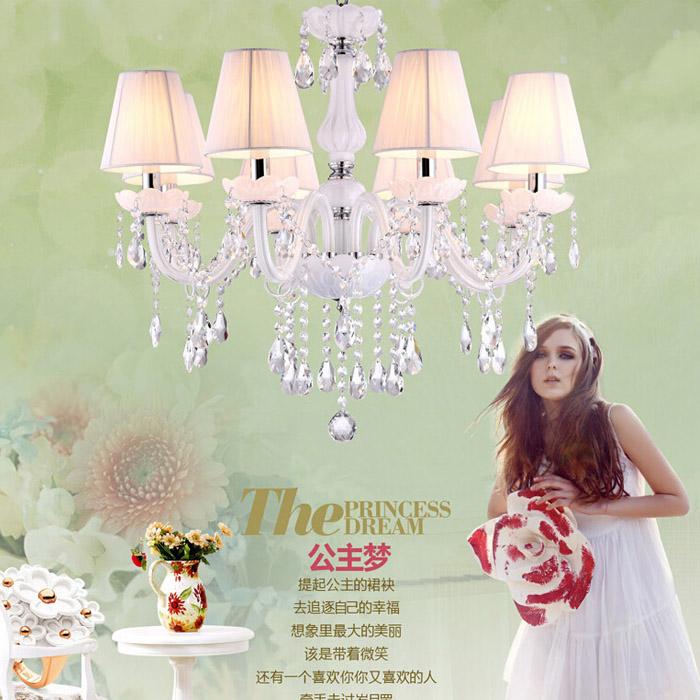 5 Light Beautiful Modern K9 Crystal Pendant Chandelier lights Include Lamp Shade;AC110V 220V<br><br>Aliexpress