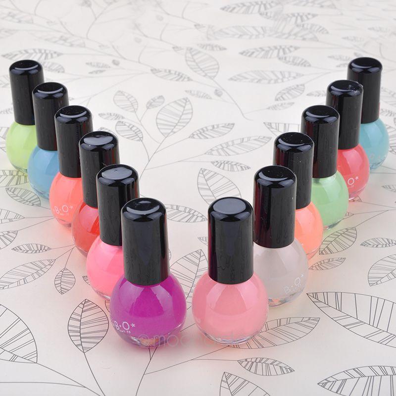 2015 Fashion Special Hot Sale 1Pcs Fluorescent Luminous Neon Glow In Dark Nail Art Polish Enamel 12Colors(China (Mainland))