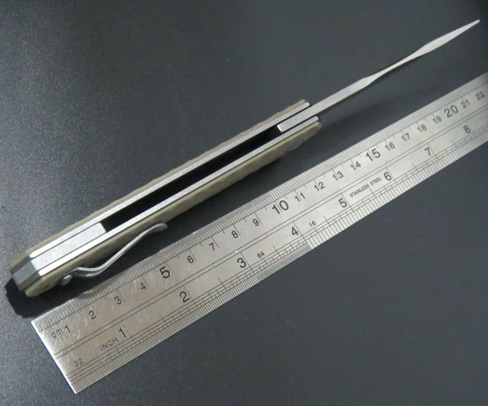 Buy Newly EDC Tool Orange Tactical Folding Blade Knives VG10 Blade G10 Handle IKBS Ball Bearing Outdoor Hunt Camping Survival Knife cheap