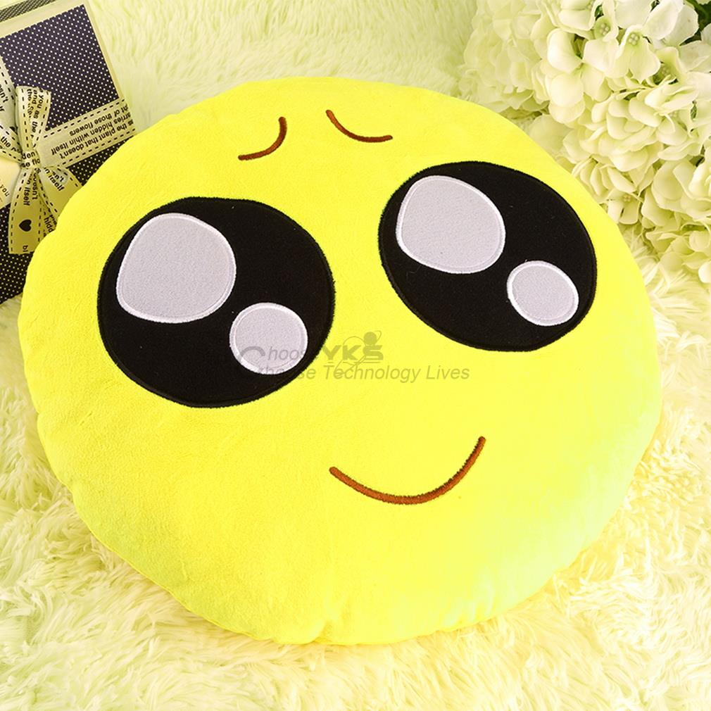 pretty Soft cute Emoji Smiley Emoticon Pretty Round Cushion Pillow Stuffed Plush Toy