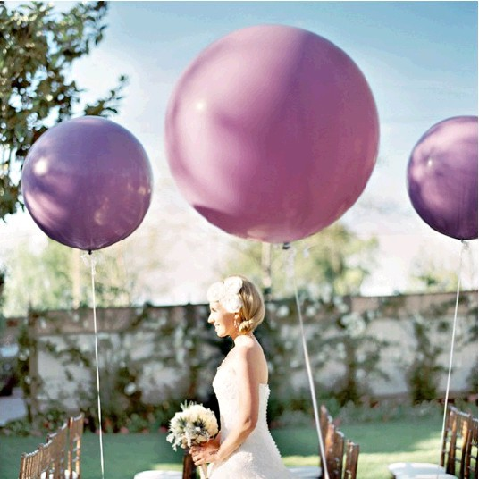 Free Shipping 10 Pcs/Lot 36 Inches Balloon Ball Helium Inflable Big Latex Balloons For a Birthday Party Decoration(China (Mainland))
