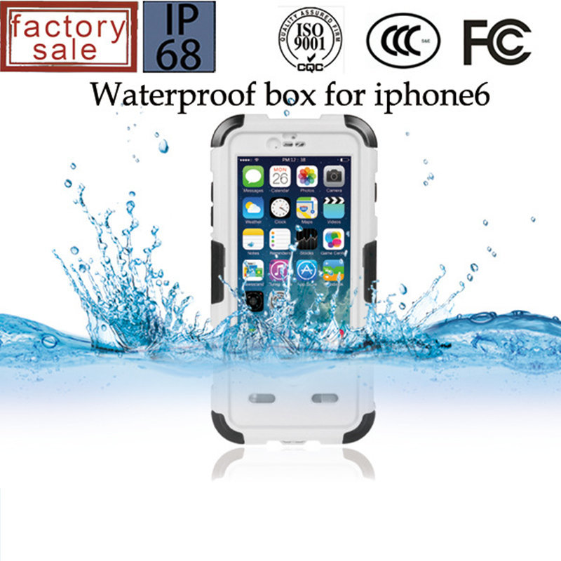 waterproof underwater case For apple iphone 6 4.7 Compatible fingerprint identify Answer phone In water mobile phone bag cover(China (Mainland))