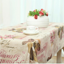 Table cloth Rectangular Pastoral style Polyester Floral Printed Tablecloth Home Protection and decoration Elegant Table cover(China (Mainland))