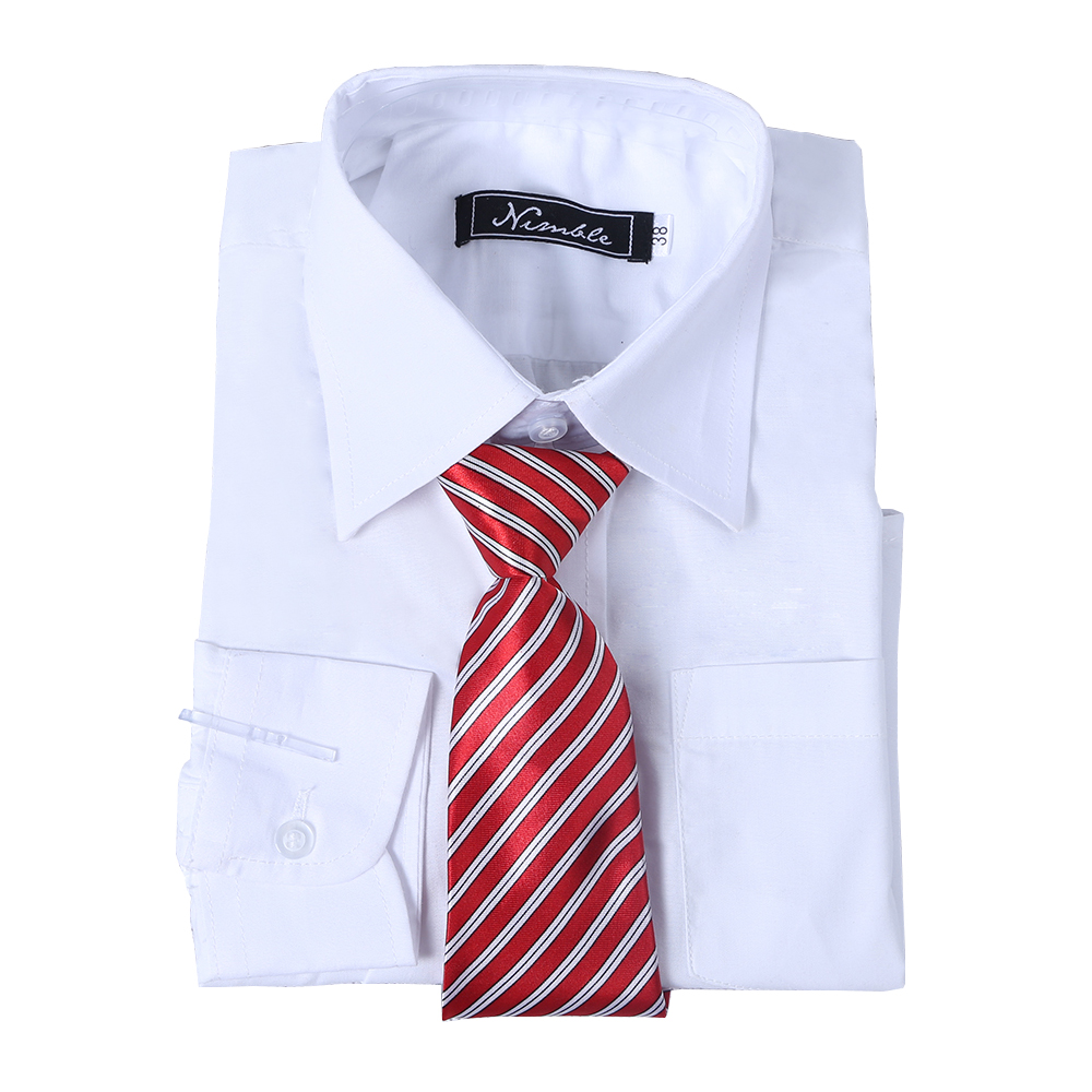 boys shirts for Suit Free Tie All-match Blouse Full Sleeve Turn-down Collar shirts for boys White blouse carters blouse school(China (Mainland))