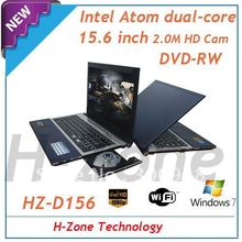 Popular 15.6 inch laptop with Intel Atom Dual core D2700 2.13Ghz processor,2GB RAM&320GB HDD,DVD-RW,4500mAh*2 ,2.0MP webcam