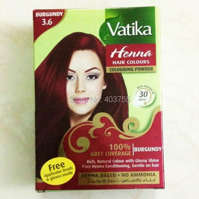 Vatika Henna Hair Coloring Hair Dye Powder Burgundy 100
