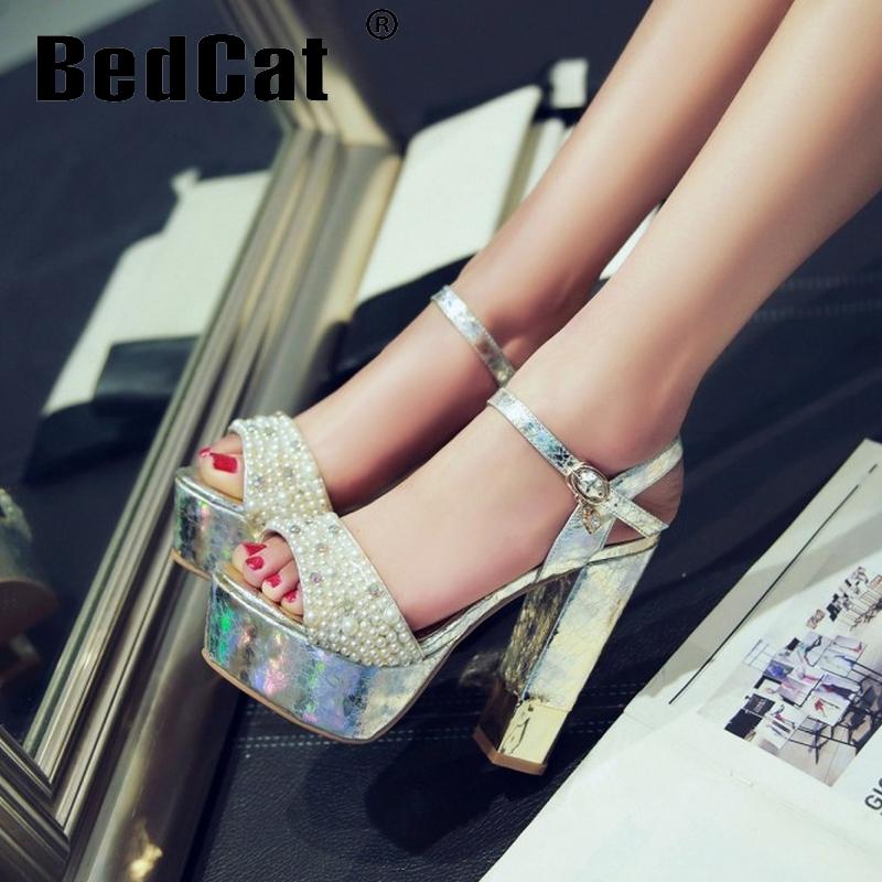 women stiletto ankle strap platform high heel sandals brand sexy wedding lady heeled footwear heels shoes size 34-39 P18118