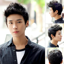 Fashion Men Handsome Short Hair Sexy Korean Boys Male Wig Full Wig Cosplay Party #L04718(China (Mainland))