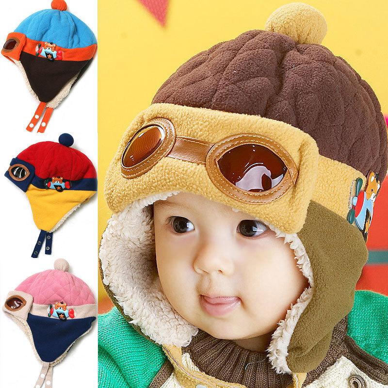 hat Hat Beanie kids cap Cool Baby Baby Pilot Cap Baby hats Boy Girl(China (Mainland))