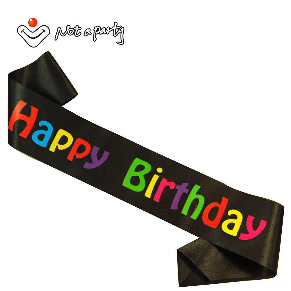 Fun Birthday party sash event supplies decoration happy brithday sashes invitation decorative crafts event party supplies(China (Mainland))