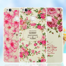 Huawei P9Lite Phone Case Softlyfit Embossing Cover TPU Back P9 Lite / G9 Flower & Animal Patterns - Shenzhen TVC-MALL Co., Ltd. store