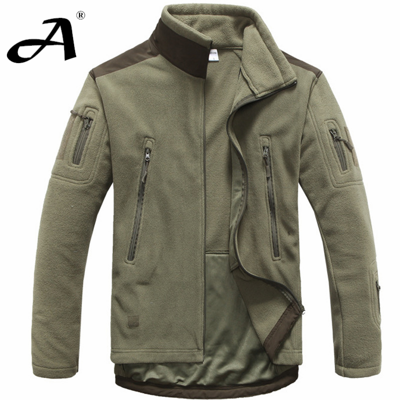 Mens Clothing Autumn Winter Fleece Army Jacket Softshell Outdoor Hunting Clothing For Men