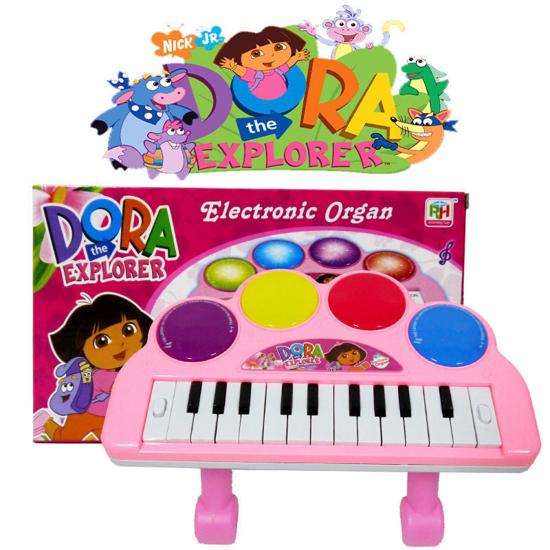 DORA THE EXPLORER KIDS ELECTRONIC PIANO KEYBOARD ORGAN MUSICAL TOY BABY TOY(China (Mainland))