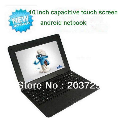 Allwinner A31 quad core 1.5 GHZ dual channel 10 inch capacitive touch screen android netbook