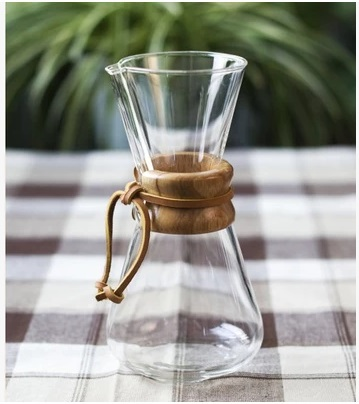 1pc Chemex style 1 3Cups Classic Series Glass Coffee Maker for barista drip coffee