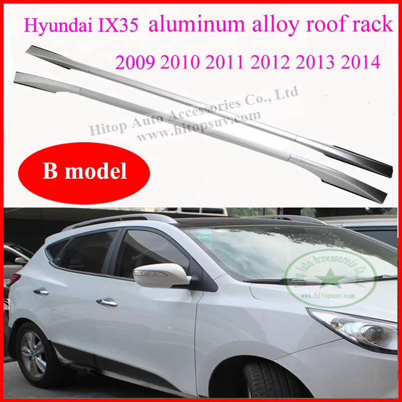 Hyundai IX35 roof rack/ roof bar/rail, aluminum alloy,B model, free shipping by Fedex DHL, low price,Thanksgiving,2009-2014(China (Mainland))