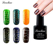 DIY nail art gel UV Crack Nail Polish professional Gel Polish price Fast Dry Crackle gel lacquer 12 lukcy colors in wholesale(China (Mainland))