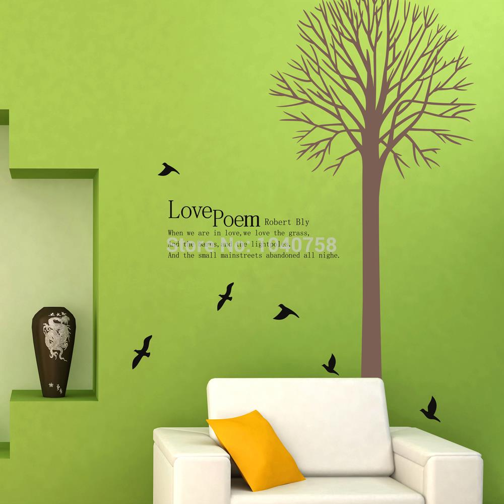Family Tree Wall Decor Images : Family tree wall decals birds stickers for kids rooms