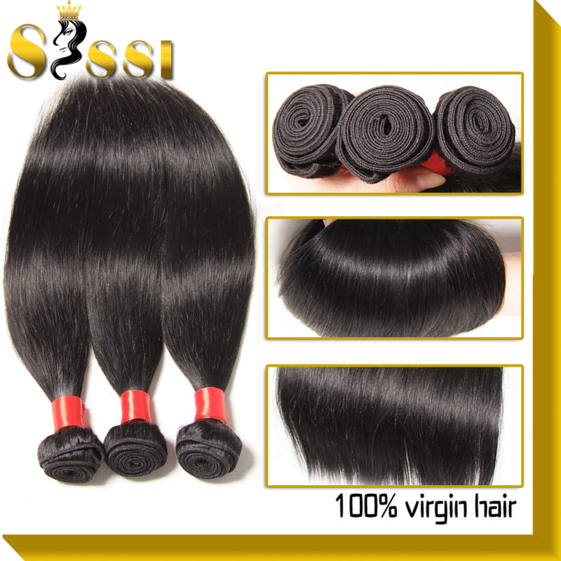 Malaysian Virgin Hair Straight 3pcs Lot 100% Unprocessed Malaysian Straight Hair Weaves Cheap Malaysian Virgin Hair Bundle Deals(China (Mainland))