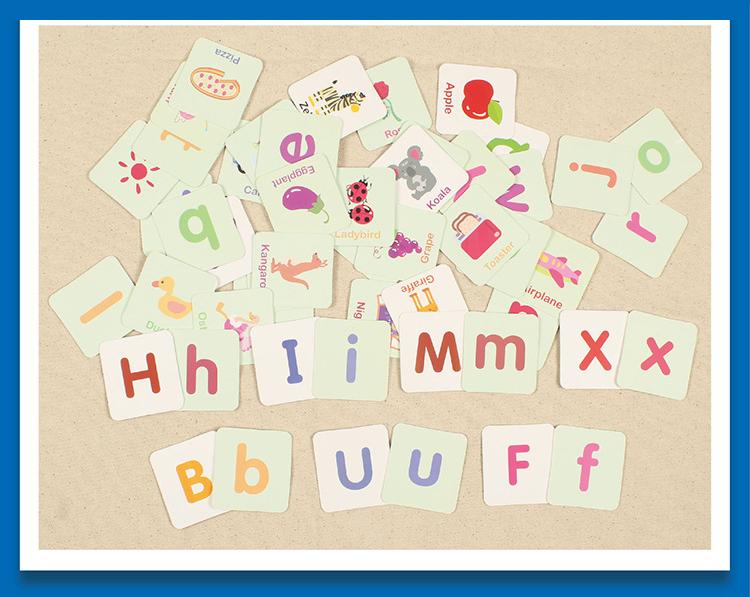toys puzzle Montessori English shape learning card early education pairing  children\u0027s game toys children\u0027s gift iron box - us387