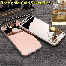 "New Rose gold Luxury Mirror Soft Clear TPU Case For iphone 6 6S 4.7 inch & iPhone6 Plus 5.5"" & 5se 5s 5 Cover Back(China (Mainland))"