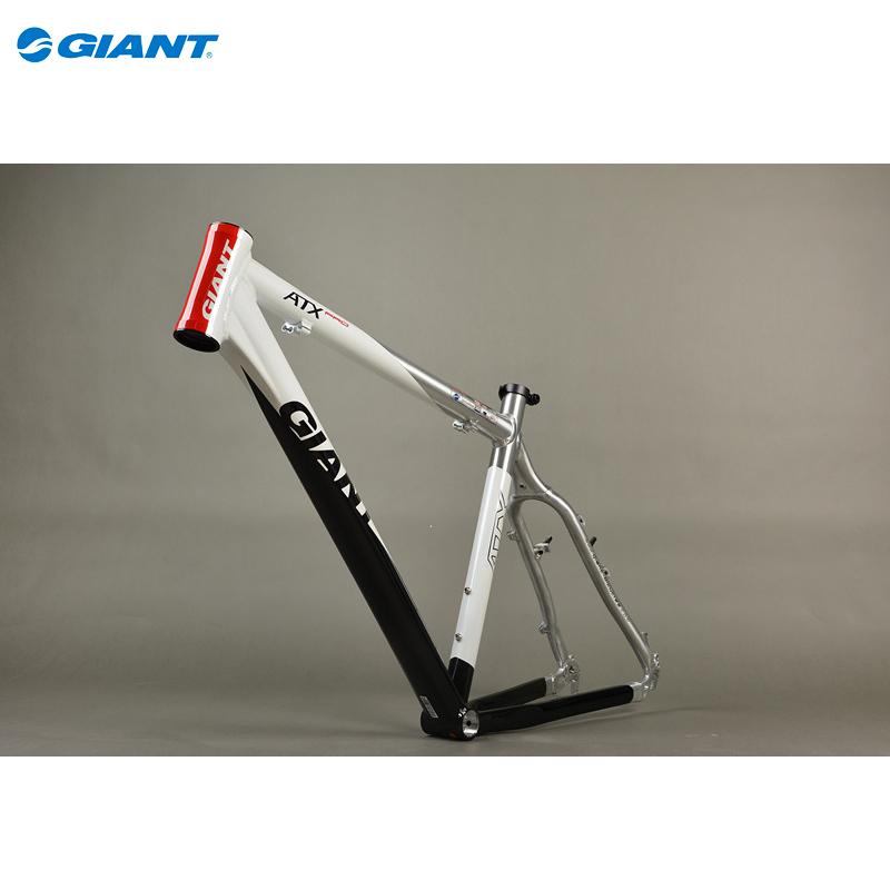 "GIANT Original ATX PRO 26"" Mountain Bike MTB Frame Aluminum Alloy Bike Frame Size M 19"" Black White Red(China (Mainland))"