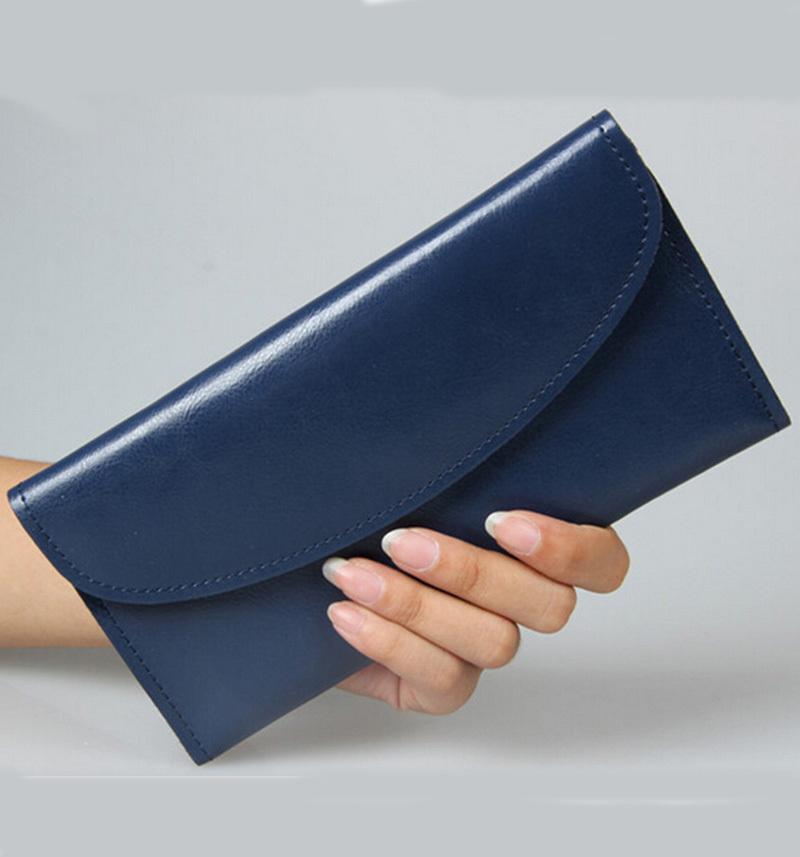 Women Cow Split Leather Wallet Cowhide Womens Wallets Clutch Long Design Purse Bags <br><br>Aliexpress