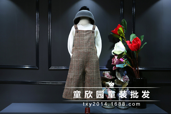Скидки на Южная Корея 2016 зима дети Корея запах цвет алмаза шерсть ремень широкие брюки ноги бесплатная доставка