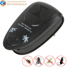 Electronic Ultrasonic Mosquito Repeller Magnetic EU Plug Portable Anti Rat Mole Bug Mouse Mosquito Repeller Rodent Pest Reject(China (Mainland))