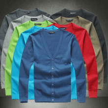 New autumn british style slim fit  V-neck male cardigan sweater plus size 6xl mens sweaters pull homme men's short clothing/KS1(China (Mainland))